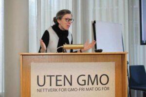 Styreleder Cesilie Aurbakken. Foto: GMO-Nettverket  og fôr
