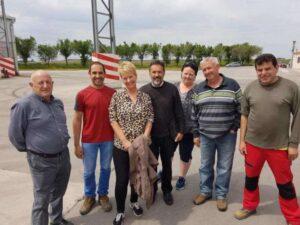 Birte U og Aina B med styret i Cooperativa La Menorca mai 2018